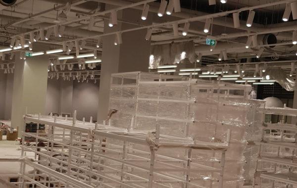 Instalacja elektryczna w sklepie usługowym w Galerii Focus w Bydgoszczy